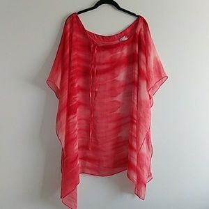 Becca See Through Coverup size Large Orange